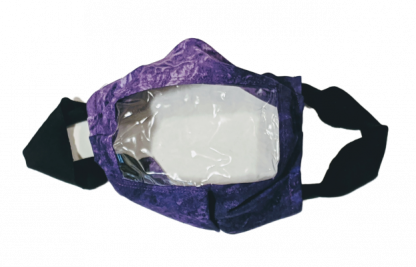 Purple See-Thru Face Mask